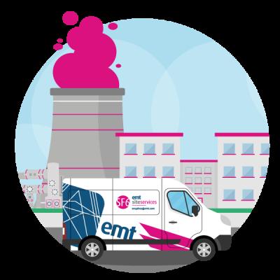 Van-with-Powerplant-Icon